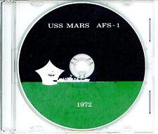 USS Mars AFS 1 CRUISE BOOK War Log 1972 CD Navy