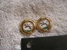 Vintage Painted Horse Racer Buttons