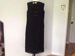 DKNY Ladies Black Sheer Dress with Seqins UK 8