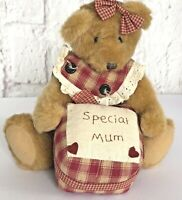 Special Mum Teddy Bear  Plush Treasured Childs Gift Present Mother Christmas