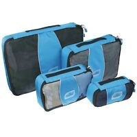 4 Set Packing Cubes, Mesh Travel Luggage Organizers with Laundry bag by PMLAND