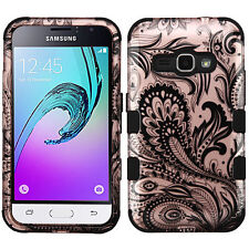 Dual Layer ShockProof Case+Skin Cover for Samsung Galaxy J1 Express 3 Amp 2 J120