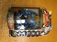 """Street Fighter 8"""" BLANKA Blue Player 2 Capcom 1999 AF-6"""