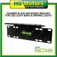 NEW Number Plate Mounting Bracket Great for LED Light Bar Driving Lights ShuRoo