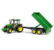 Bruder Toys 02108 Pro Series JOHN DEERE 5115M Tractor & Tipping Trailer - 1:16
