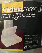 Video Cassette Storage Cases Clear  for VHS & BETA