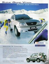 Publicité advertising 2002 Suzuki Grand Vitara