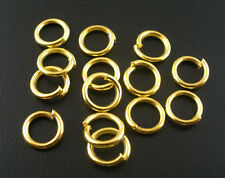 50 pcs Gold plated Open Jump Ring Connector 8mm jewelry findings wholesale DIY