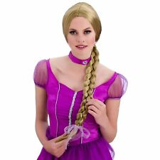 Blonde Princess Rapunzel Tangled Wig Adults Womens Fancy Dress Costume Accessory