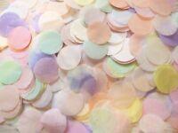 Biodegradable, Pastel COLOUR Other Mixes Confetti Circles, Wedding, Celebration.