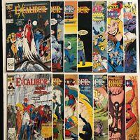 Excalibur NM Marvel Comics 1988 Run Set Lot Issues  #'s 1 - 13 & 20 Total Qty 14