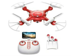 Drone with Camera Live Video – Syma X5UW WiFi FPV RC Quadcopter with 720P HD Cam