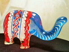 Abraham Palatnik red white & blue elephant vtg mcm lucite acrylic art sculpture