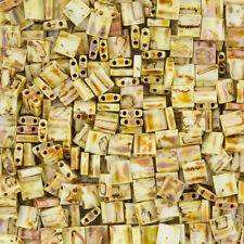Miyuki Tila Beads TL4512 Canary Yellow Matte Picasso 5mm 7.2g (K86/6)