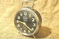Vintage Alarm Clock Mechanical WEHRLE Three In one Rare 1960's Working Well #49