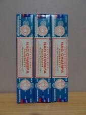 NAG CHAMPA Satya Sai Baba 3 x 15g Packs Incense - FREE POST AU