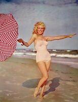 Marilyn Monroe 1953 Vintage Pinup Litho Andre De Dienes Tobay Beach Photo COA