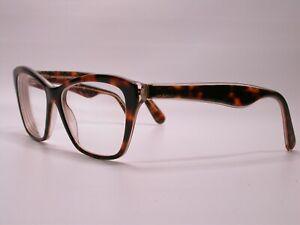 Dolce and Gabbana Designer Tortoise Gold Glitter Eyeglasses Frames