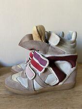 Isabel Marant Leder Sneaker Gr39 Mit Keilabsatz