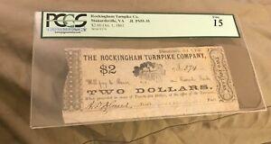 Rockingham turnpike company $2 stewartsville oct 1861 PCGS F15 RARE