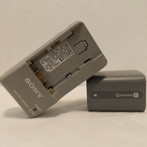 OEM Sony BC-TRP Battery Charger with Battery infoLithium NP-FP70