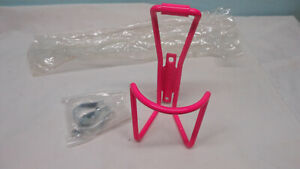 NOS VINTAGE PINK BOR YUEH  RED WATER BOTTLE CAGE 80's road / MTB