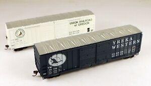(2) Athearn 50' Box Car YW/Union RR Of Ore. #1524/25134 1/87 HO Scale #4 NO BOX