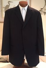 NEW Stunning Hugo Boss Black Label 100s Wool Mens Black Tuxedo Suit Sz 44 R