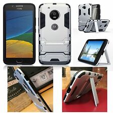 Motorola Moto G5 Rugged Case Extreme Military Balistic Survival inc Stand Silver