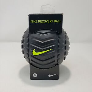 """Nike Recovery Ball Training Massage Muscle Color Black Logo Neon 5"""" High Density"""