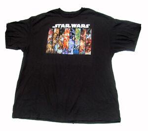 Size 2XL XXL Star Wars Sci-Fi Black Men's T-shirt Graphic Tee