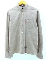 Levi's Mens Shirt, Size L Large, Multicolor Striped Long Sleeve Cotton CD1149