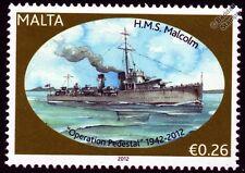HMS MALCOLM (D19) Scott Class Destroyer Warship WWII Malta Convoys Stamp