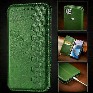 For Motorola One 5G UW Ace Luxury Leather Magnetic Flip Wallet Stand Case Cover