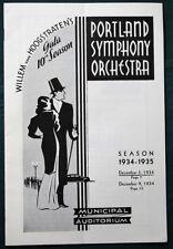 Portland Oregon - Lot of 6 Symphonic Concerts Programs from 1930s