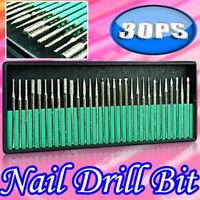 30X Nail Art Electric File Drill Bits Replacement Manicure Pedicure Kit