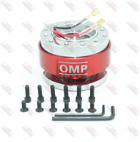 UNIVERSAL QUICK RELEASE STEERING WHEEL HUB ADAPTER BOSS KIT FOR MOMO OMP RED