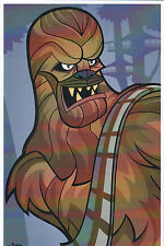 Animated Star Wars - CHEWBACCA PRINT HAND SIGNED Jorge Baeza