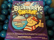 "Blueberry Smoothy  Dubble Bubble Gum Balls 1""  1 Pound (453g) about 56 Gumballs"