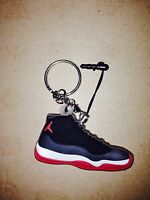d593329feffd47 NEW AIR JORDAN XI 11 RETRO OG COOL GREY LOW KEYCHAIN 3D SNEAKER ...