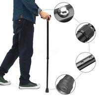 "36.6"" Walking Cane Palm Grip Stick Anti-Slip Adjustable Height Left Right Handle"