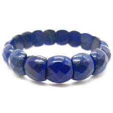 Genuine Real Blue Lapis Lazuli Bracelet Stone Lapiz Stretching Gemstone Jewelry
