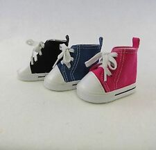 """High Top Sneakers in BLACK- for American Girl & other 18"""" Dolls (Boy,Mary Ellen)"""