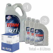 Engine Oil and Filter Service Kit 8 LITRES Fuchs TITAN GT1 PROC3 XTL 5w30 8L