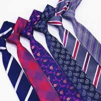 Men's Tie Slim Formal Wear Paisley Floral And Plaid Pattern Classic Ties For Men
