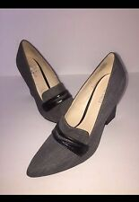 Nine West Heels Size 9 Grey Black EUC Professional Business Pointed Toe