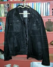 New Authentic Angelo Litrico Black Leather Jacket Germany Size 2XL MSRP $400