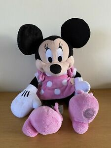 """Disney Large 20"""" tall Pink Mini Mouse Plush Toy Disney Store Childrens Cuddly"""