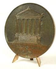 Medaille Temple Grec Grèce Greek Temple Greece 62 mm 87 g medal
