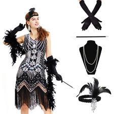 Ladies Gatsby Fancy Dress Flapper 1920s Roaring 20s Charleston Girl Accessories